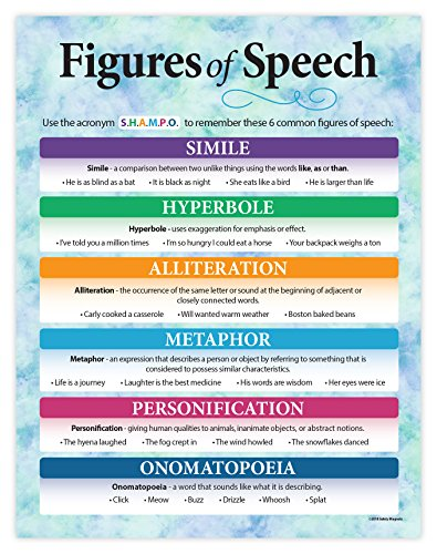 (Safety Magnets Figures of Speech - Language Arts Poster - 17 x 22 inches - Laminated ...)