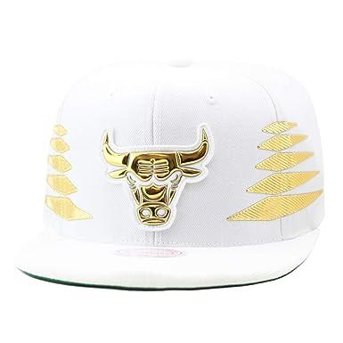 d81d0dfb4c2 Mitchell   Ness Men s NBA Solid Gold Diamond Logo Snapback Cap ...