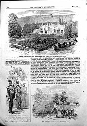 Print Royal Bucks Militia Wycombe Abbey Store Ballarat GFields1854 - Store Ballarat