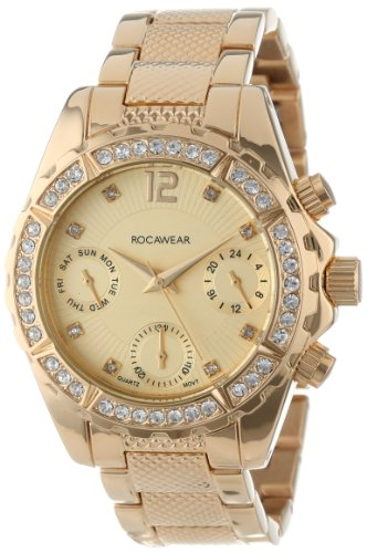 Rocawear Women's RL0121G1-046 Stylish Bracelet Enamel Bezel Watch