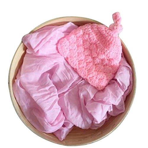 trietree color puro tejer a mano envoltura de recién nacido apoyos de