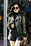 Generic Real_fox_ fur collar leather Women girl new Women 's winter short _paragraph_ Slim leather jacket Women 's leather jacket temperament