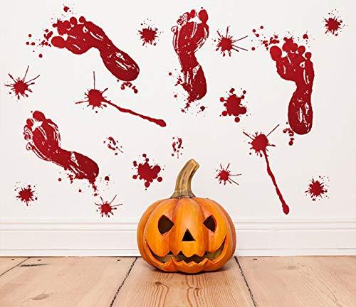 Halloween UMIPUBO Bloody Handprint Halloween Sticker Halloween Horror Adesivi Elettricit/à Statica Accessori Halloween Finestra Adesivi per Halloween Party Decorazione 6 Fogli