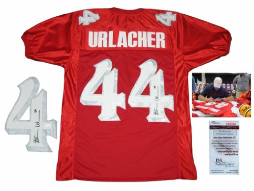 James Autographed Red Custom Jersey - Brian Urlacher Signed Custom Jersey - JSA Witnessed - Autographed w/ Photo - Red - College