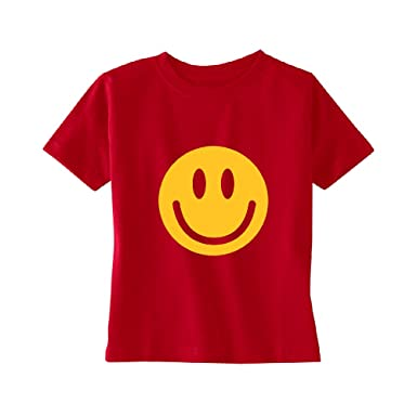 d0dcf777b6f3 Christmas Ugly Sweater Co Kid's Cotton Smiley Face Emoji T-Shirt (Red):  Amazon.in: Clothing & Accessories