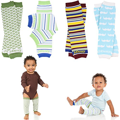 Newborn Organic Baby Leg Warmers (Newborn-15 pounds) (Organic Boys 4-Pack) (Babylegs Tights)