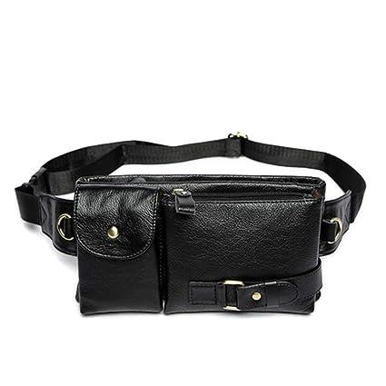 0765d565d2c FreeStreetBo Genuine Leather Men Waist Packs Fanny Pack Hip Belt Bag Travel  Phone Pouch Bags Waist
