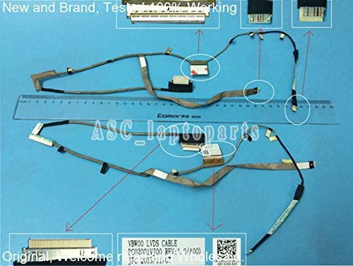 Computer Cables Original LCD LED Video Flex Cable for DELL 15 3537 5537 3521 5521 Touch Laptop Screen Display Cable DC02001VJ00 Cable Length: Other