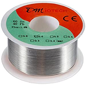 DMiotech 100g 0.6mm Rosin Core Solder Tin Lead Solder Wire 60/40 for Electrical Soldering