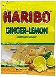 Haribo Gummy Candy, Ginger Lemon, 4-Ounce (Pack of 12)