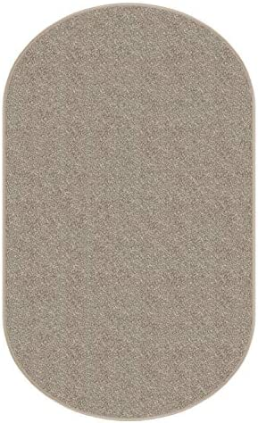 Dream Weaver Oval 9 x12 Indoor Area Rug – Hawthorn 30oz – Plush Textured Carpet for Residential or Commercial use with Premium Bound Polyester Edges.
