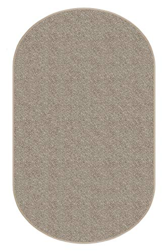 Dream Weaver Oval 4 X6 Indoor Area Rug – Hawthorn 30oz – Plush Textured Carpet for Residential or Commercial use with Premium Bound Polyester Edges.