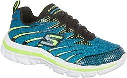 Skechers Kids Boys\' Nitrate Running Shoe, Turquoise/Black, 6 M US Big Kid