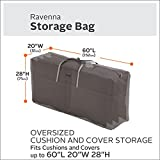 Classic Accessories Ravenna Water-Resistant 60 Inch Patio Cushion and Cover Storage