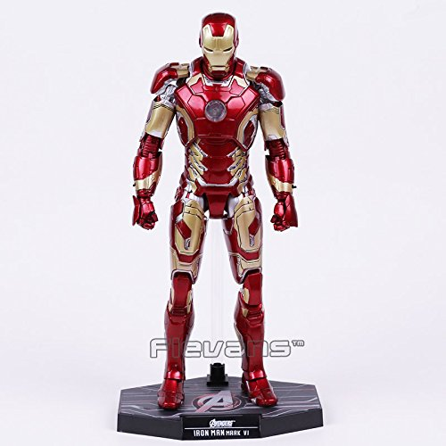 Hot Toys Avengers Age of Ultron Iron Man Mark MK 43 with LED Light PVC Action Figure Collectible Model Toy