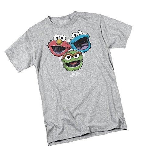 Halftone Heads -- Sesame Street Adult T-Shirt, Large