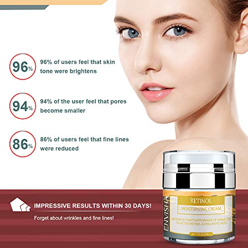 51GCr7T19cL - Wumal Retinol Moisturizer Cream for Face and Eye Area - Anti Aging Infused with 3% Active Retinol, Hyaluronic Acid & Vitamin E - Reduce Wrinkles, Fine Lines, Fades Sun Spot