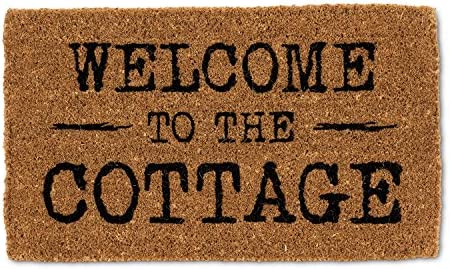 Abbott Collection 1235-FWD COTTAGE Welcome to The Cottage Doormat