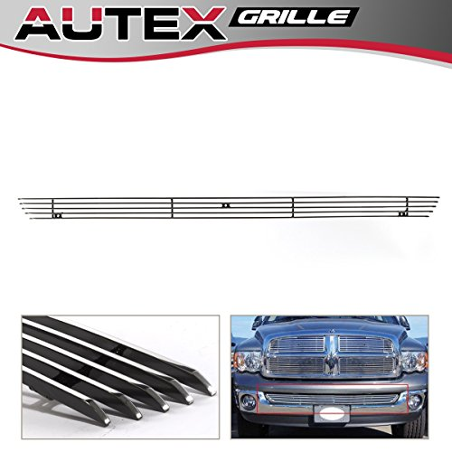 AUTEX Lower Bumper Billet Grille Insert Compatible With 2002 2003 2004 2005 2006 2007 2008 Dodge Ram 1500 Grill ()
