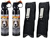 Guard Alaska (Pack of 2) 9 oz. Bear Spray Repellent Firemaster Canister & (Pack of 2) Pepper Enforcement Metal Belt Clip Holsters