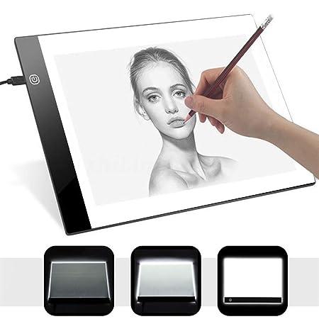OGGID Mesa de Luz Dibujo A4 con Usb, LED Regulable Tablero Tableta ...