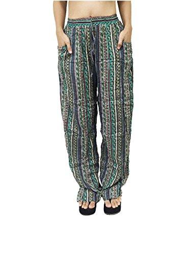 Palazzo À Design De 4 Modèle Imprimé Pantalons Lofbaz Femmes Vert wpBqnxWCY