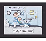 Oral Surgeon Personalized Gift Custom Cartoon Print 8x10, 9x12 Magnet or Keychain