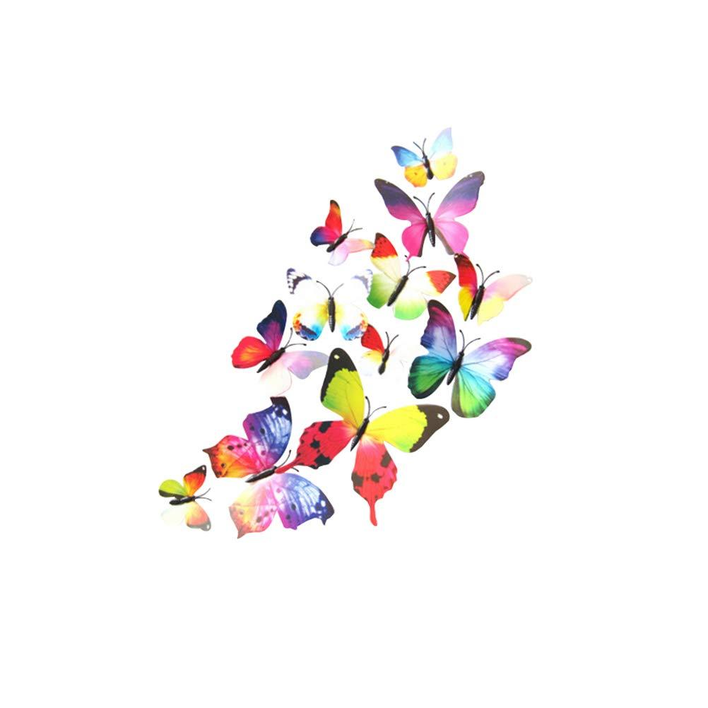 VORCOOL 12 unids Mariposa 3D Pegatinas extraíbles Mural Pegatinas ...