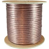 GLS Audio Premium 12 Gauge 500 Feet Speaker Wire - True 12AWG Speaker Cable 500ft Clear Jacket - High Quality 500 Spool Roll 12G 12/2 Bulk