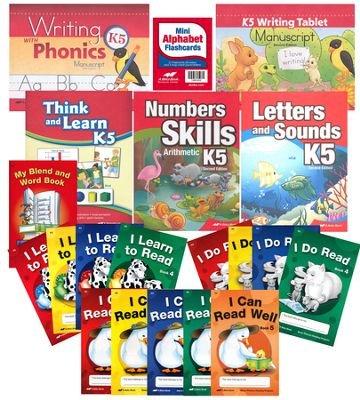 A Beka K5 Homeschool Child Full-Grade Kit (Manuscript Edition), NEW EDITION - Full Grade Kit