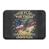 Uiowsbe Custom Kneel for The Cross Christian Doormat - Floor Mat Indoor Entrance Rug Decor Mat, 23.6''x15.7''
