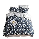 VClife Queen Full Cotton Bedding Duvet Cover Sets Reversible Soft Bedding Sets Geometric Pattern Bedding Comforter Cover Sets - 3 PCS Hotel Quality Bedding Collection, Soft, Hypoallergenic, Queen Full