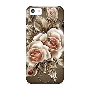 Ultra Slim Fit Hard ReMllke Case Cover Specially Made For Iphone 5c- My Creation Flora