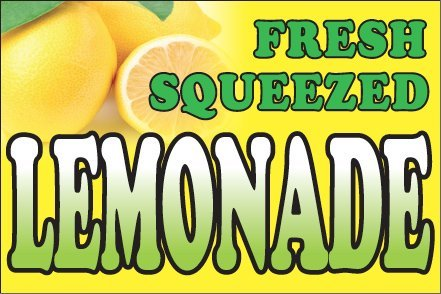 2x3 Ft Fresh Squeezed Lemonade Vinyl Banner Sign yb
