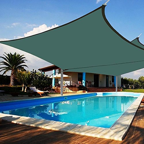 Nice1159 2X Deluxe Square Sun Shade Sail-UV Top Cover Outdoor Canopy Patio Lawn 18' x18' -Easy Installation (Only 5 pcs Left) US