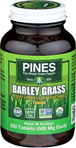 Pines Organic Barley Grass, 500 mg, 250 Count Tablets