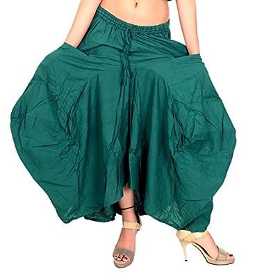 Sarjana Handicrafts Women Cotton Solid Pockets Skirt Hippie Afghani Ethnic