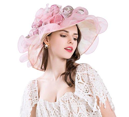 Kentucky Derby Sun Hats Organza Church Flower Hat For Women Tea Party Wedding Hat