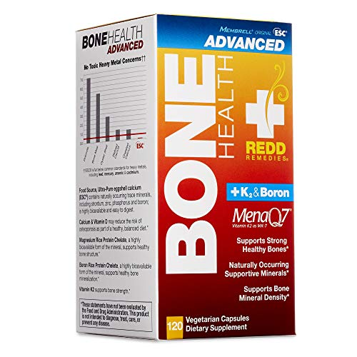 Redd Remedies - Bone Health Advanced, Vitamin D3 and Calcium for Strong Bone Support, 120 Count