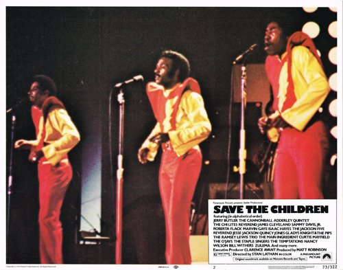 Save The Children Original Lobby Card The Ojays Performing