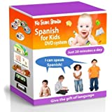 SPANISH FOR KIDS: Early Language Learning System (Spanish in just 20 minutes) Kid Start Spanish - 4 DVDs + Music CD + Large Book + 50 Flashcards + Games + Apps included. by Bamm Enterprises Inc.