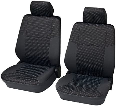 Schwarze Sitzbezüge für OPEL AGILA Autositzbezug VORNE