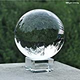 Toowood 2.76''(70mm) K9 Crystal Ball for Photography Decoration Birthday Gift Teaching (Dia 70mm/2.76'' + FreeCrystalStand)