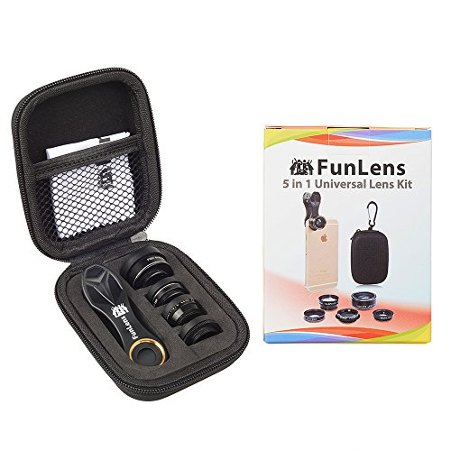 FunLens 5 in 1 Universal Clip On Cell Phone Camera Lens Kit for iPhone 8/7 / 6/5, Samsung S7/S7 Edge & Most Smartphones by FunLens (Image #1)