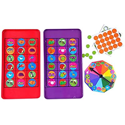 The Purple Cow Animal Bingo Game - Car Games , Airplane Games and Quiet Games: Toys & Games