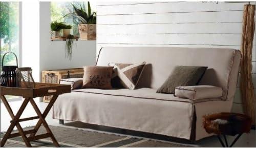 Sofa Cama DOBLE 140 cm. Extensible con funda Color Teja-FUNDA ...