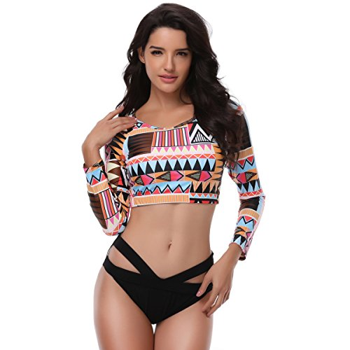 Rash Guard Top Bikini - 8