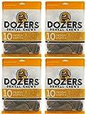 Dozers Dental Dog Chews – 100% All Natural Ingredients – Gluten Free Dental Healthy Delicious Dog Treat – Promotes Fresh Breath, Medium, 13.9 oz. – 10 Treats – 4 Pack