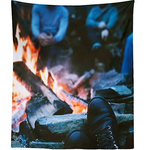 Bonfire Boot - Westlake Art Boots Fire - Wall Hanging Tapestry - Picture Photography Artwork Home Decor Living Room - 68x80 Inch (322F-542E0)