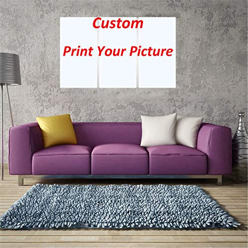 Yoopa 3 Panel Canvas Wall Art Prints Stretched Frameless for Home Decor Custom Modern Canvas Paintings Poster Personalized Giclee Photo Gifts